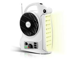 Technical Pro Rechargeable Campign Fan with AM/FM Radio Spea