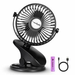 Rechargeable Clip on Fan Battery Operated Baby Stroller Fan