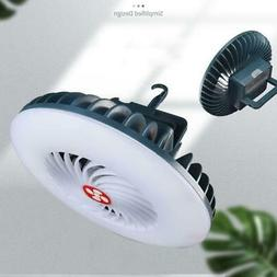 Outdoor Camping Portable Rechargeable LED Fan Light Hanging