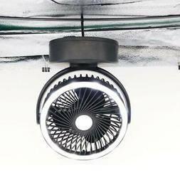 Rechargeable Outdoor Camping Portable LED Fan Light Hanging