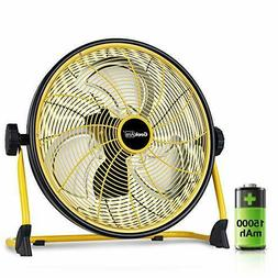 Geek Aire Rechargeable Outdoor High Velocity Floor Fan,16''