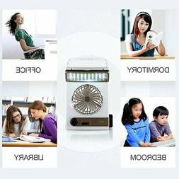 Solar Power Rechargeable Multifunctional Cooling Fan And LED