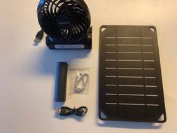 Solar Powered Rechargeable Fan - 5W Solar Panel