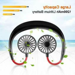 Summer Portable Rechargeable Neckband Neck Hanging Style Twi