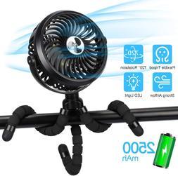 TAECCL Stroller Fan Mini Portable Fan USB Rechargeable Batte