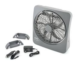 Treva 10 inch Smart Power Portable Rechargeable Fan 2 Speed