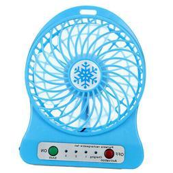 USB Portable Fan Wearable Fan Mini Rechargeable Fans Long Ba