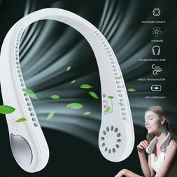 USB Portable Hanging Neck Fan Cooling Air Cooler Little Elec