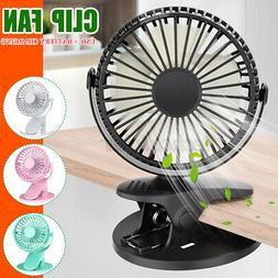 USB Rechargeable Desk Fan Battery Operated Clip On Mini Fan