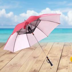 USB RECHARGEABLE FAN UMBRELLA  Long Handle Umbrella Summer C