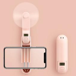 USB Rechargeable Handheld Mini Fan Low Noise Fan with Power