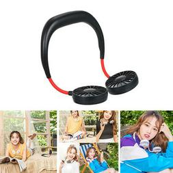 USB Rechargeable Portable Neck Hanging Adjustable Fan For Ho